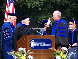 President Frawley Taking the Oath
