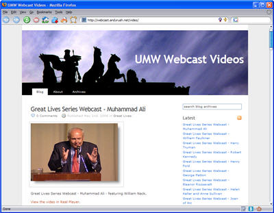 Webcast Page