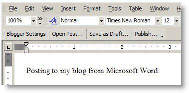 Blogger for Word Screenshot