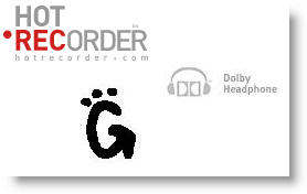 Hot recorder - Gada.be - Dolby headphones