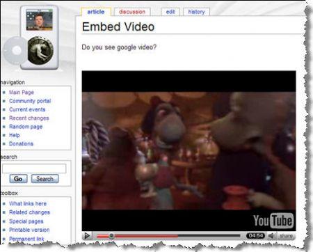 YouTube in MediaWiki