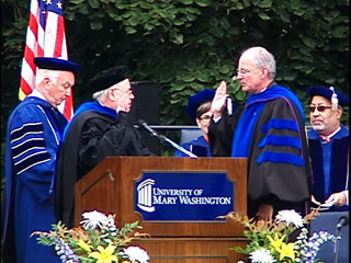 President Frawley Taking the Oath