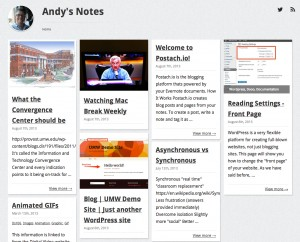 Andy's Notes